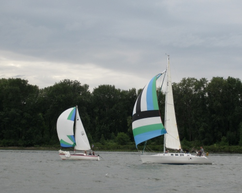 SP&M and Mo-B-Dick head for the downwind mark